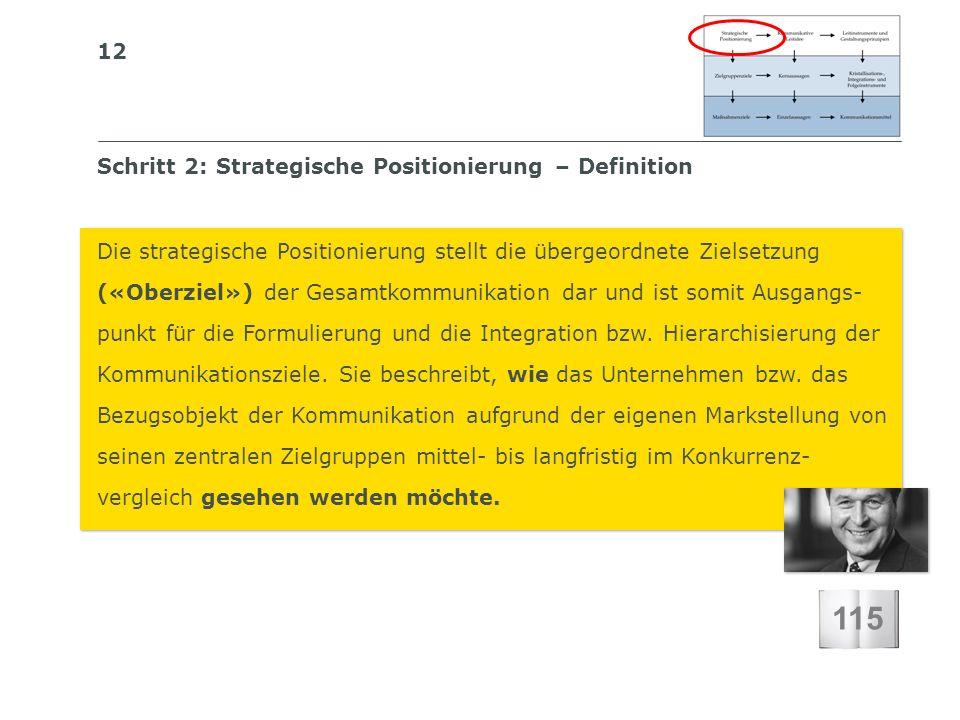 12 S I BS I B S C H W E I Z E R I S C H E S I N S T I T U T F Ü R B E T R I E B S Ö K O N O M I E Schritt 2: Strategische Positionierung – Definition