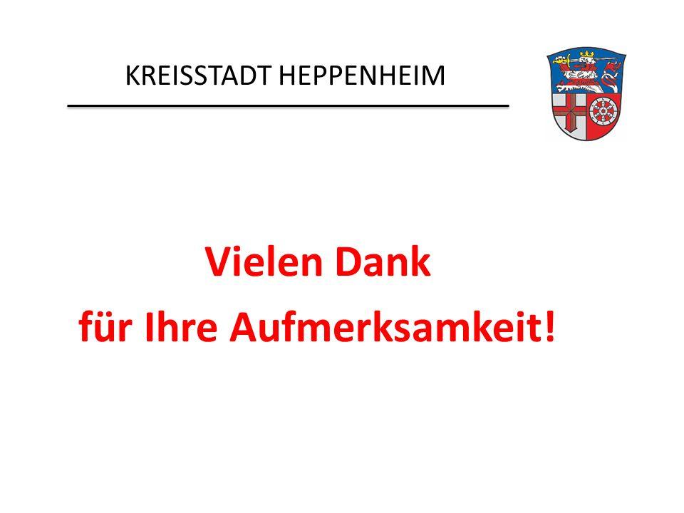 KREISSTADT HEPPENHEIM Vielen Dank für Ihre Aufmerksamkeit!