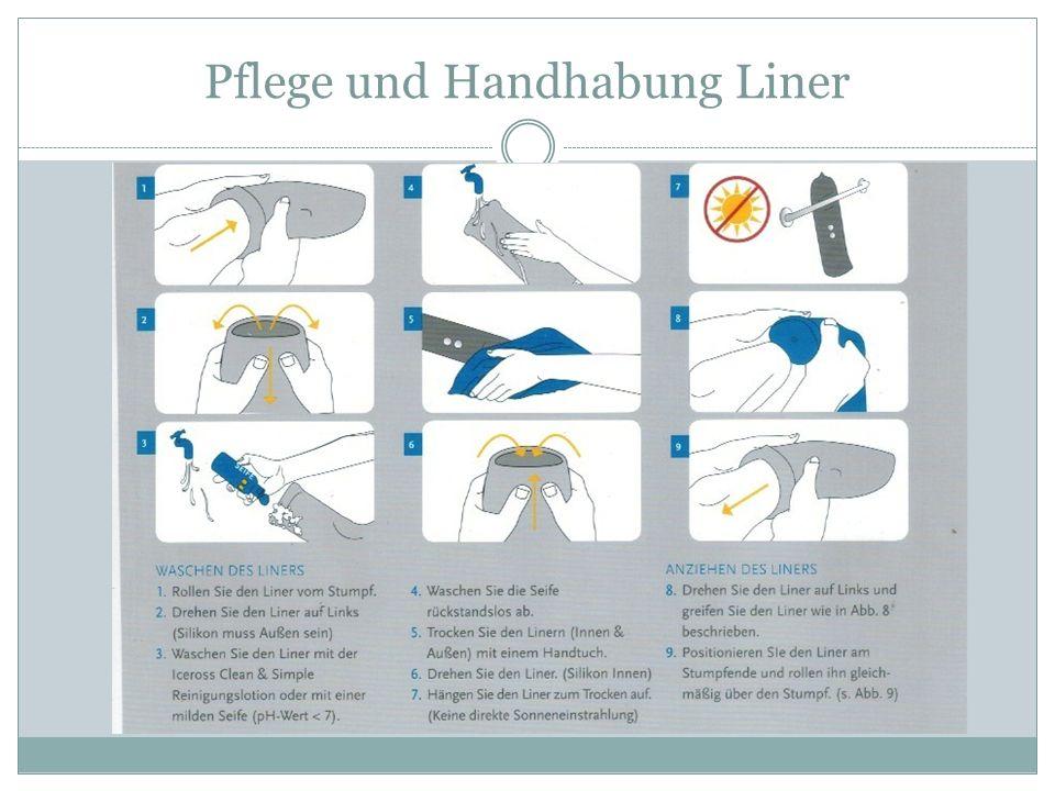 Pflege und Handhabung Liner