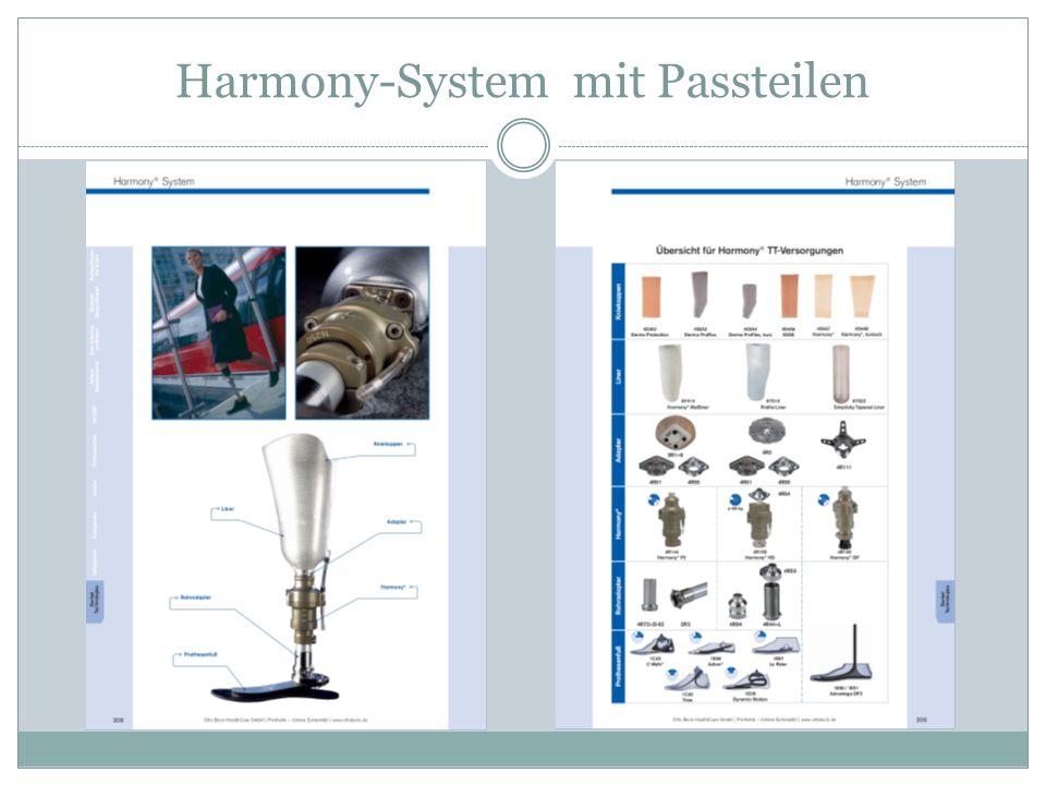 Harmony-System mit Passteilen