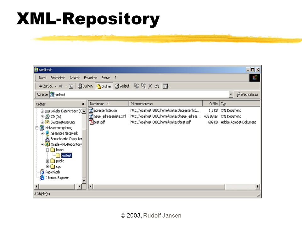 © 2003, Rudolf Jansen XML-Repository