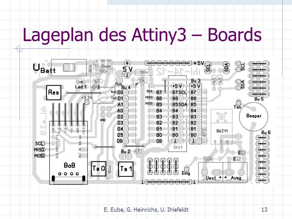 Lageplan des Attiny3 – Boards E. Eube, G. Heinrichs, U. Ihlefeldt13