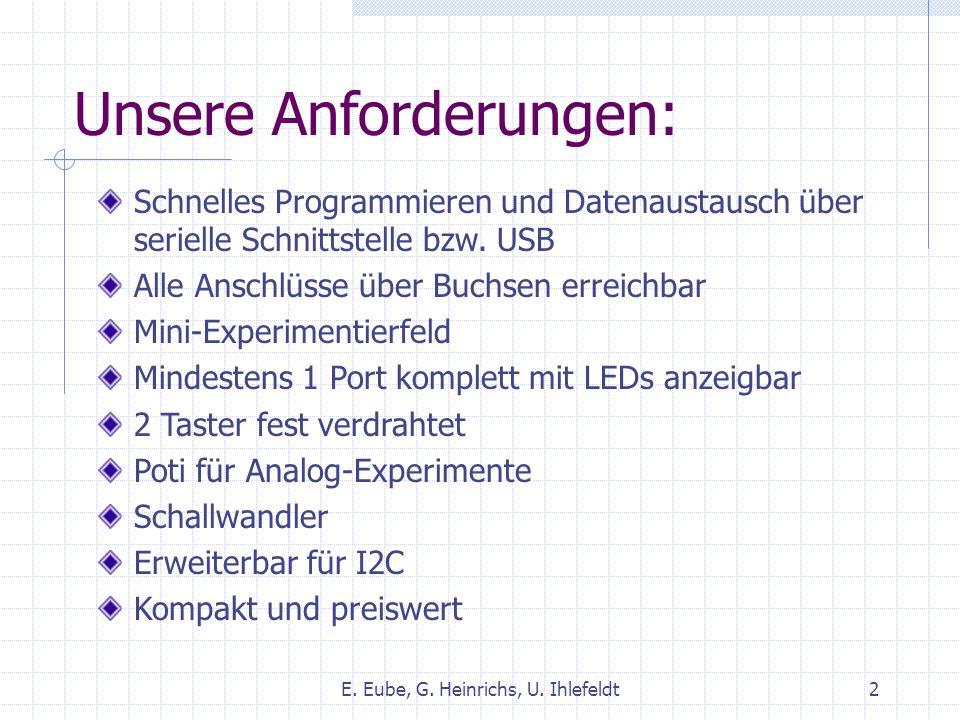 Neukonstruktion – Planung E. Eube, G. Heinrichs, U. Ihlefeldt3