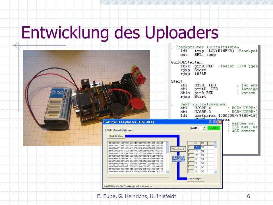 Entwicklung des Uploaders E. Eube, G. Heinrichs, U. Ihlefeldt6