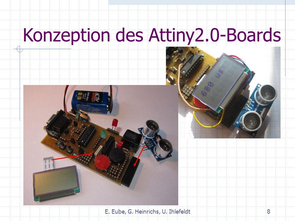 Attiny2.1 und LCD-Modul Doppelbuchsenleiste für LEDs… und für LCD-Modul E.