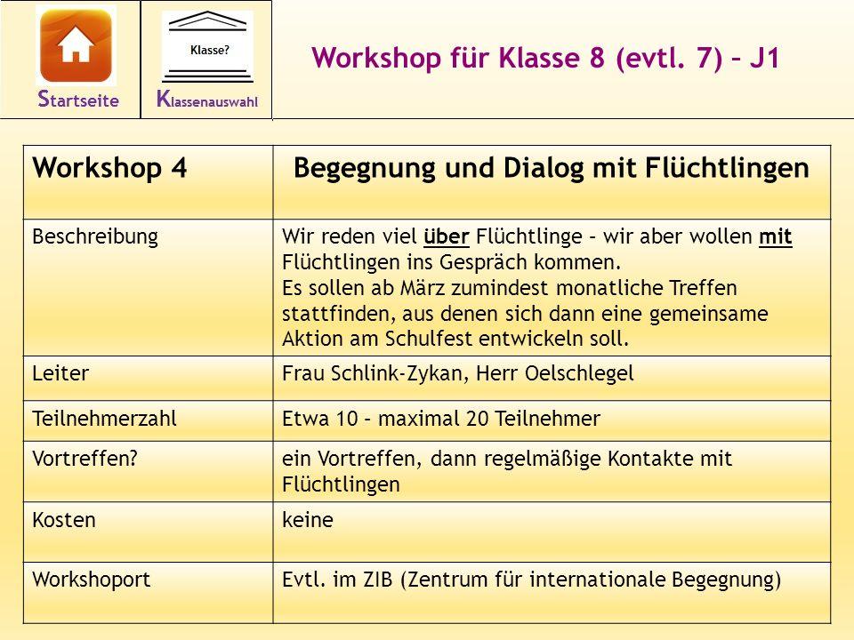 18 Workshop für Klasse 8 (evtl.