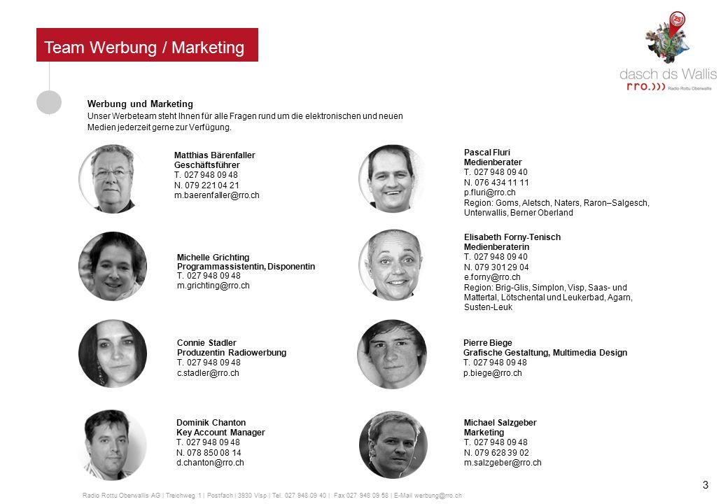 Trägerschaft Das Aktienkapital der Radio Rottu Oberwallis AG ist wie folgt aufgeteilt: Valaiscom AG 25,22%, Mengis Druck & Verlag AG 25,6% und Einzelaktionäre 49,18%.