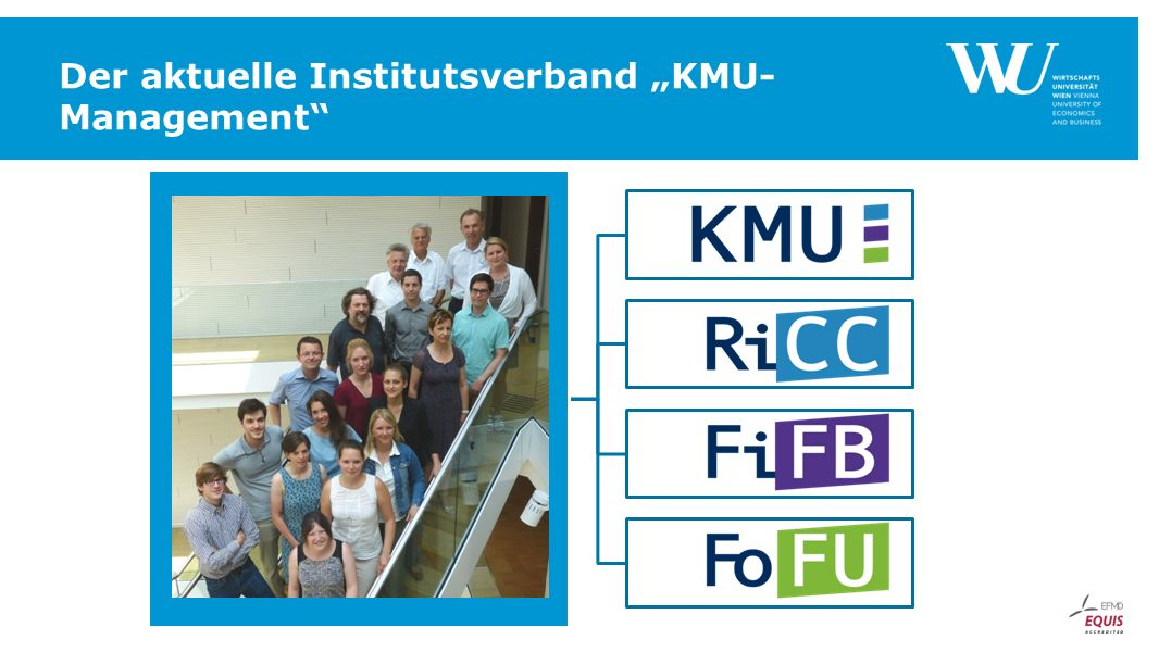 "Der aktuelle Institutsverband ""KMU- Management Neues Foto!"