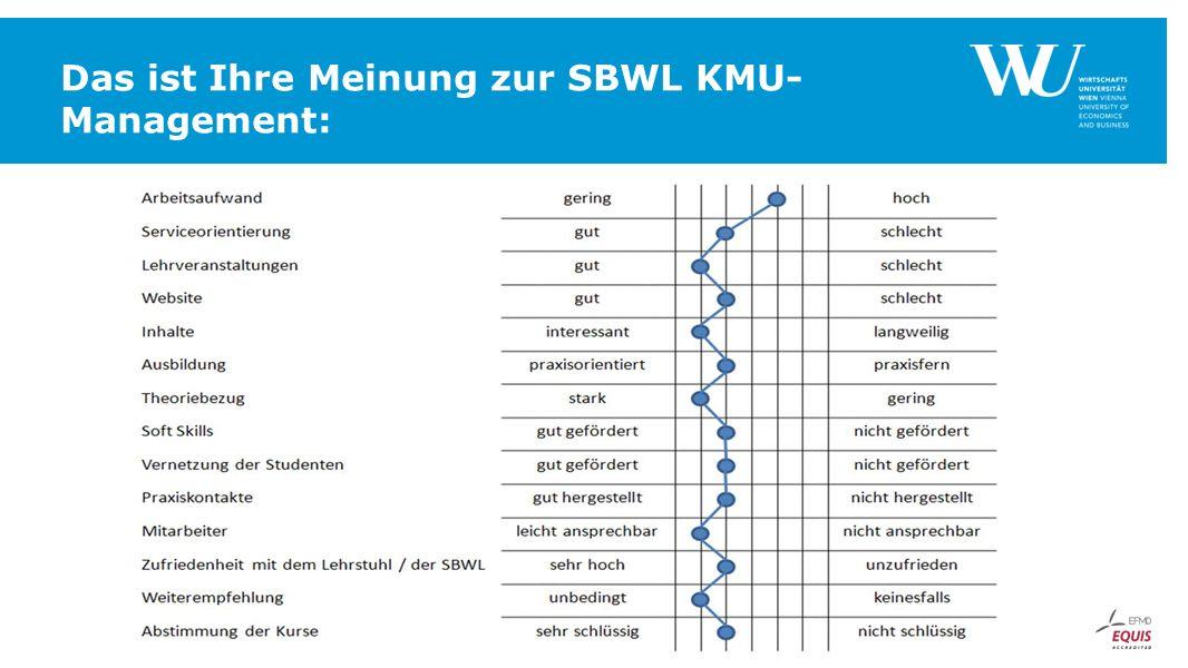 Das ist Ihre Meinung zur SBWL KMU- Management: FUSSZEILE