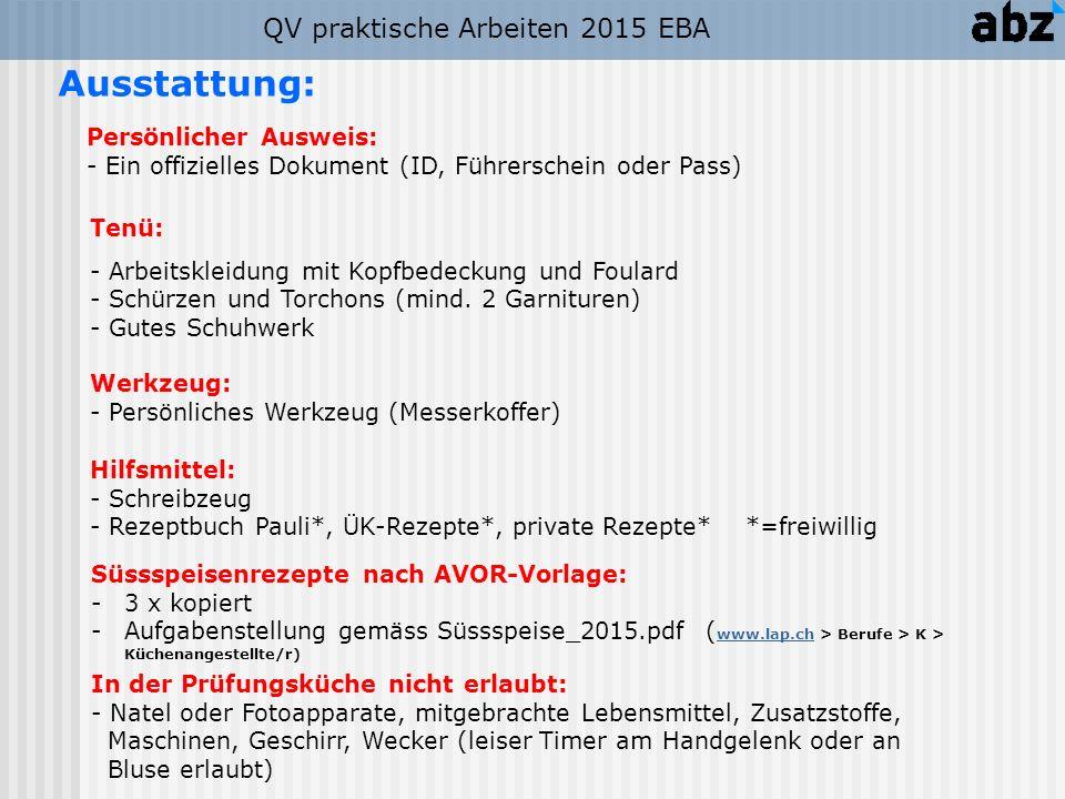Tagesablauf Früh Tagesablauf Spät QB praktische Arbeiten 2015 EBA