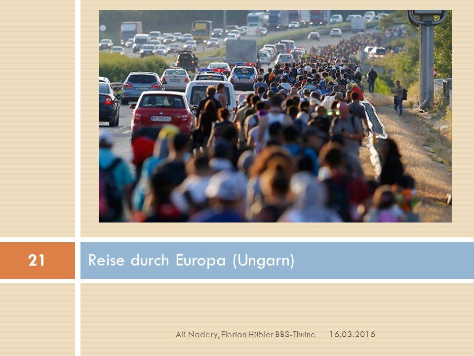Reise durch Europa (Ungarn) 16.03.2016 21 Ali Nadery, Florian Hübler BBS-Thuine