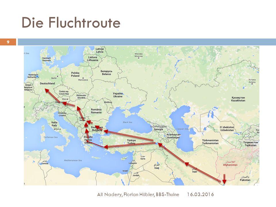 Die Fluchtroute 16.03.2016 Ali Nadery, Florian Hübler, BBS-Thuine 9