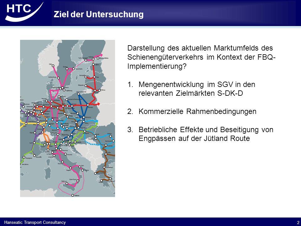 Hanseatic Transport Consultancy Ziel der Untersuchung 2 Darstellung des aktuellen Marktumfelds des Schienengüterverkehrs im Kontext der FBQ- Implementierung.