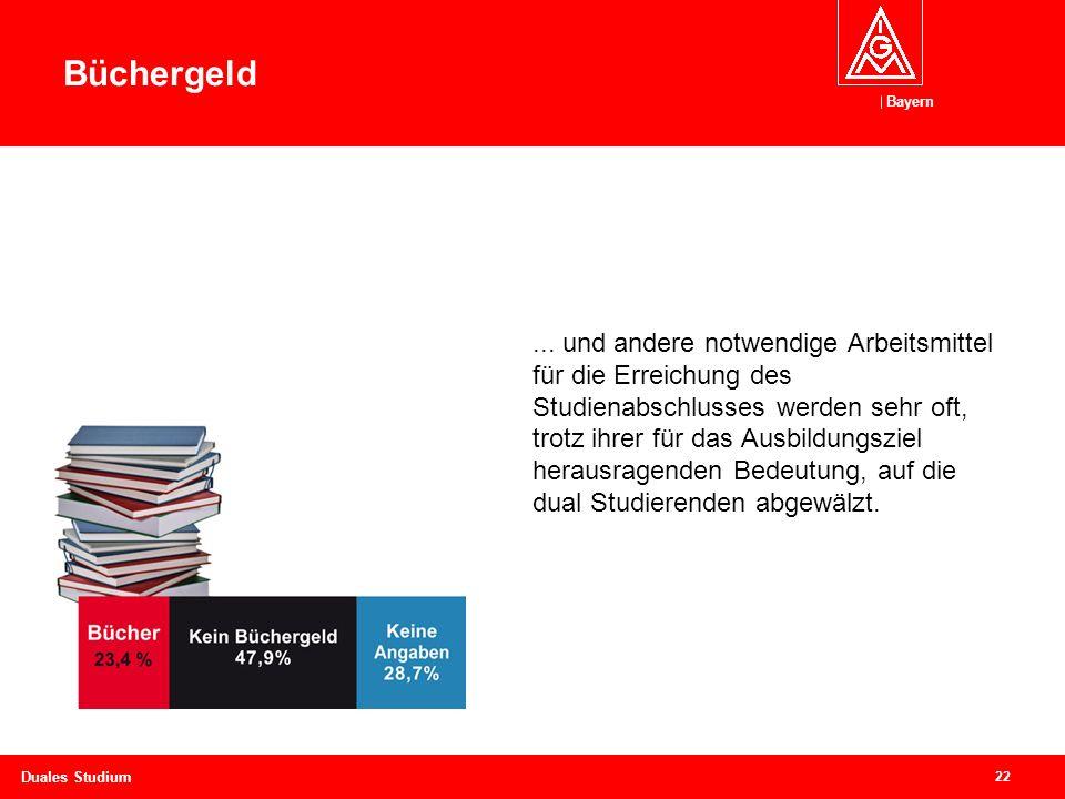 Bayern 22 Duales Studium Bücher oder Büchergeld…...