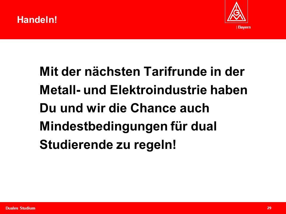 Bayern 29 Duales Studium Handeln.