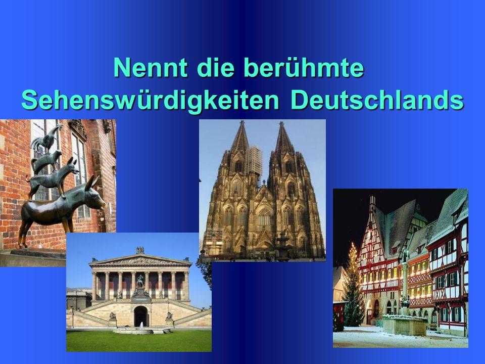 Der grösste Fluss Deutschlands ist… Der grösste Fluss Deutschlands ist… a ) Die Donau b) der Rhein c) die Elbe
