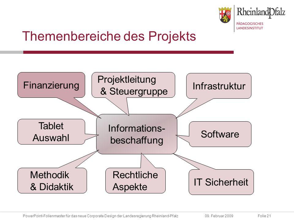 Folie 21PowerPoint-Folienmaster für das neue Corporate Design der Landesregierung Rheinland-Pfalz09.