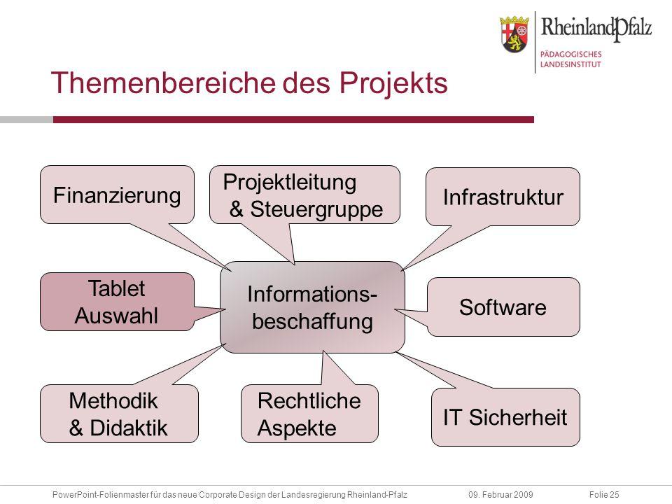 Folie 25PowerPoint-Folienmaster für das neue Corporate Design der Landesregierung Rheinland-Pfalz09.