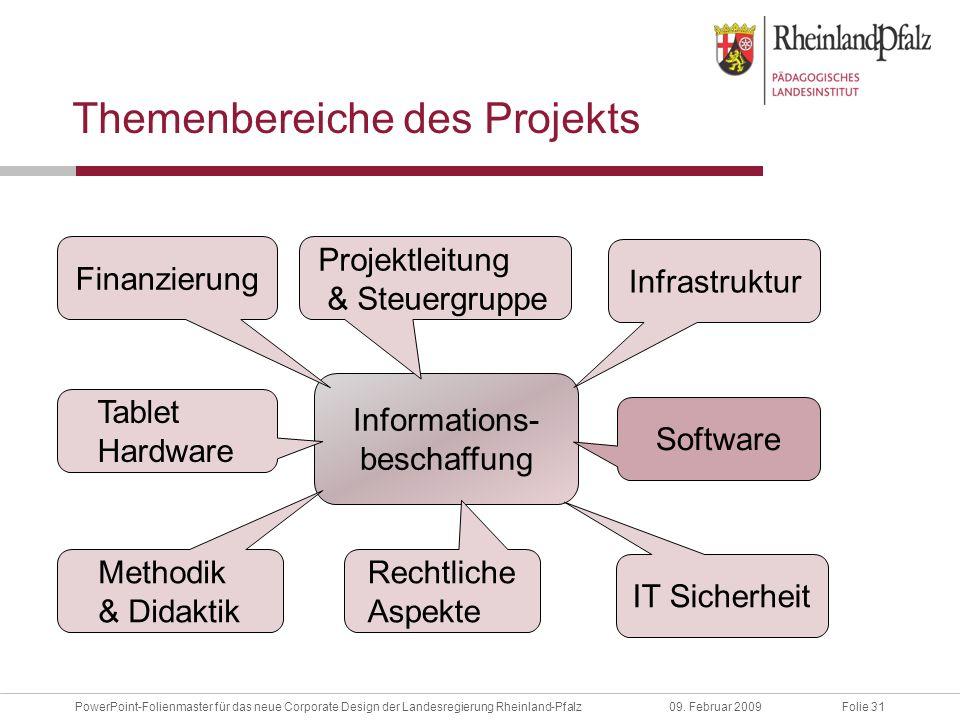 Folie 31PowerPoint-Folienmaster für das neue Corporate Design der Landesregierung Rheinland-Pfalz09.