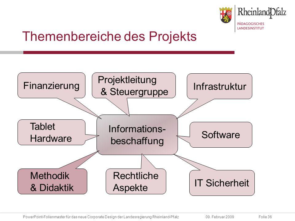 Folie 36PowerPoint-Folienmaster für das neue Corporate Design der Landesregierung Rheinland-Pfalz09.