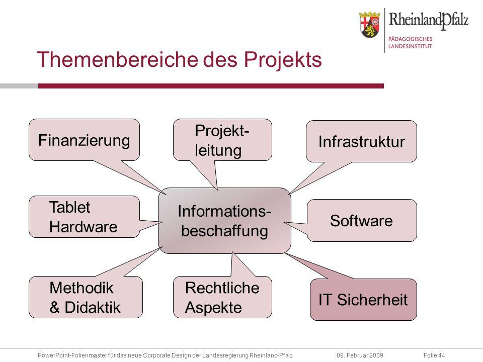Folie 44PowerPoint-Folienmaster für das neue Corporate Design der Landesregierung Rheinland-Pfalz09.