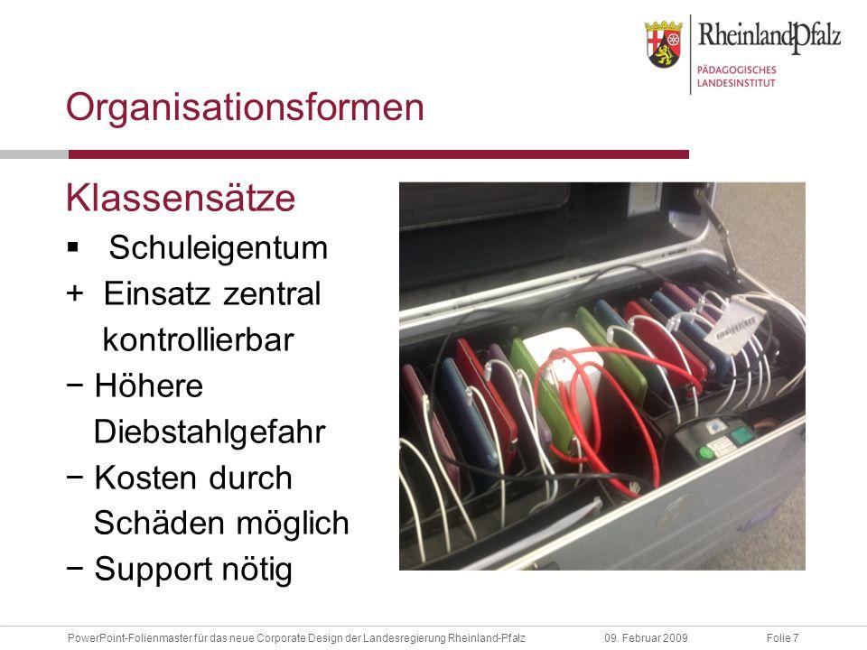 Folie 48PowerPoint-Folienmaster für das neue Corporate Design der Landesregierung Rheinland-Pfalz09.