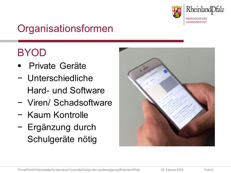 Folie 19PowerPoint-Folienmaster für das neue Corporate Design der Landesregierung Rheinland-Pfalz09.