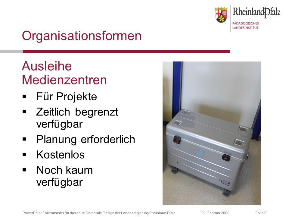 Folie 40PowerPoint-Folienmaster für das neue Corporate Design der Landesregierung Rheinland-Pfalz09.