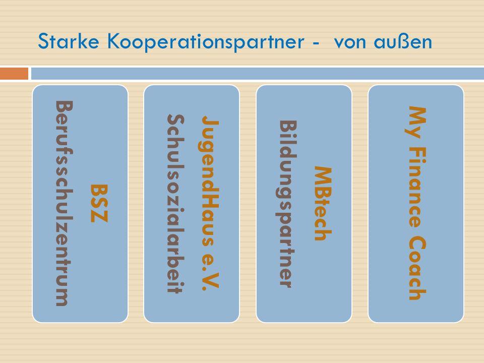 Starke Kooperationspartner - von außen BSZ Berufsschulzentrum JugendHaus e.V.
