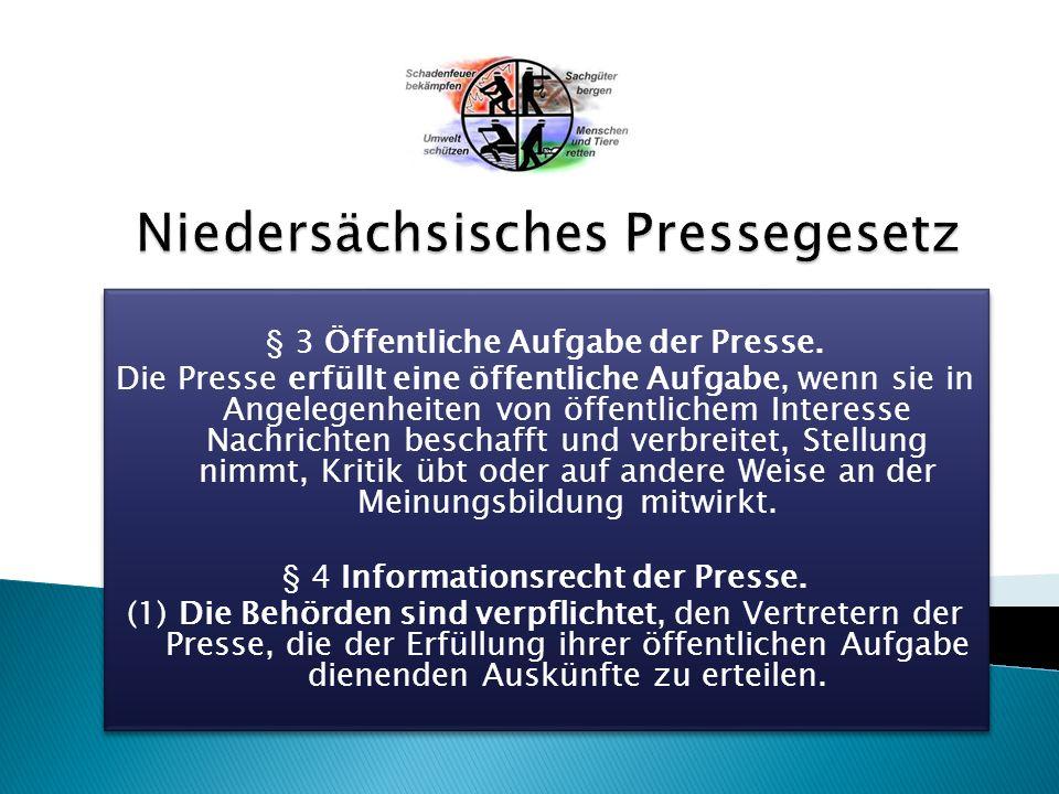 § 3 Öffentliche Aufgabe der Presse.