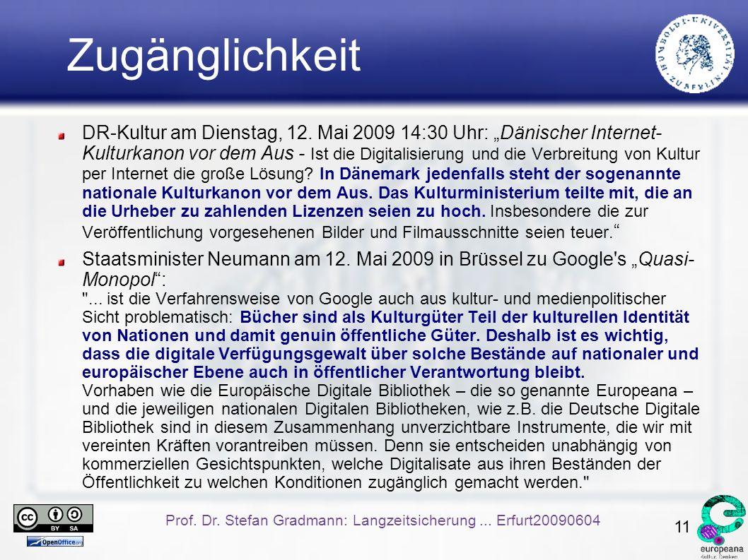 11 Prof. Dr. Stefan Gradmann: Langzeitsicherung...