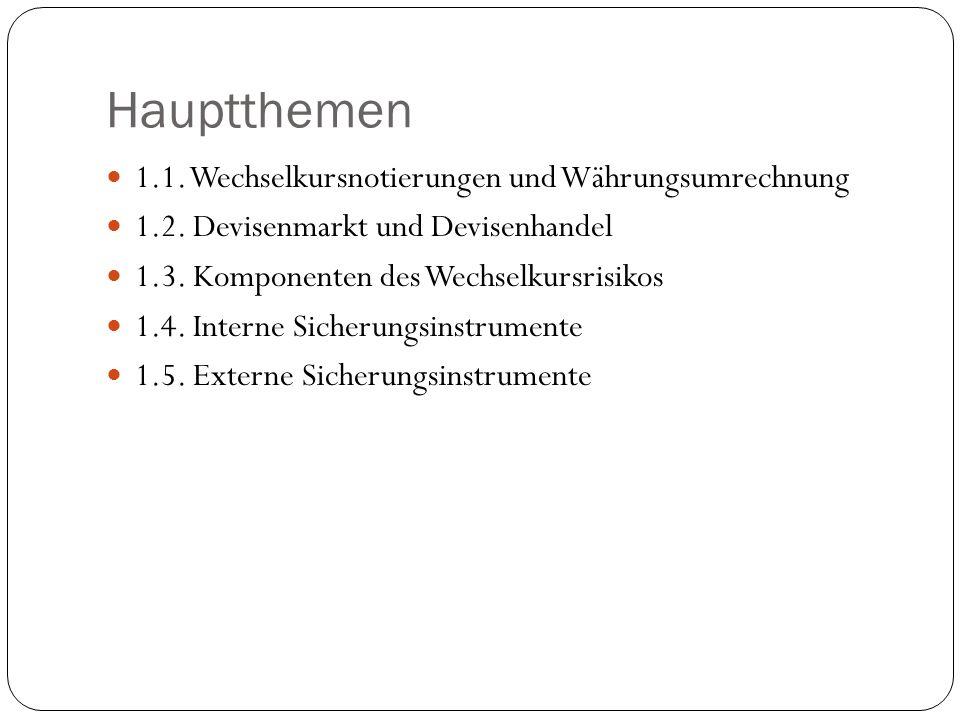 Perspektive: EUR Ankauf/Verkauf durch die Bank.