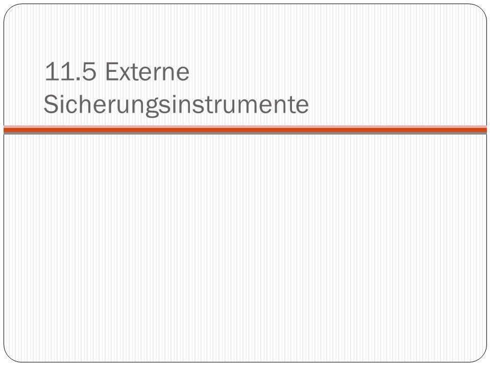 11.5 Externe Sicherungsinstrumente