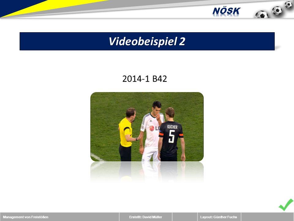 Management von FreistößenErstellt: David MüllerLayout: Günther Fuchs Videobeispiel 2 2014-1 B42