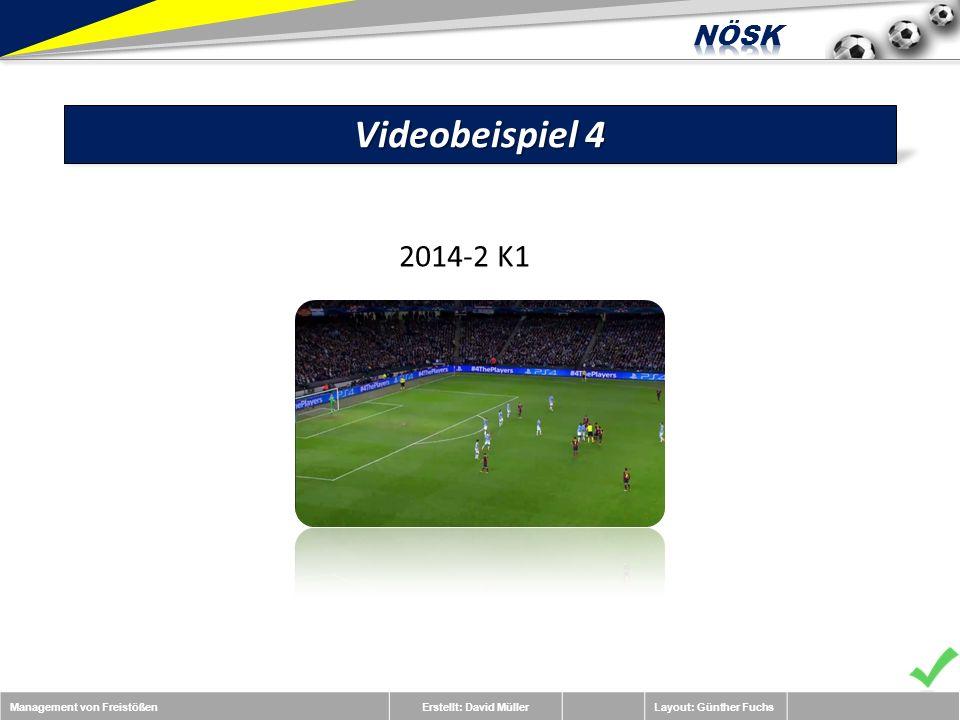 Management von FreistößenErstellt: David MüllerLayout: Günther Fuchs Videobeispiel 4 2014-2 K1