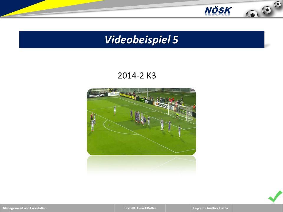 Management von FreistößenErstellt: David MüllerLayout: Günther Fuchs Videobeispiel 5 2014-2 K3