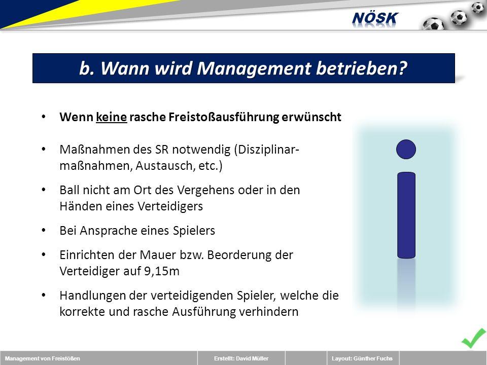 Management von FreistößenErstellt: David MüllerLayout: Günther Fuchs b.