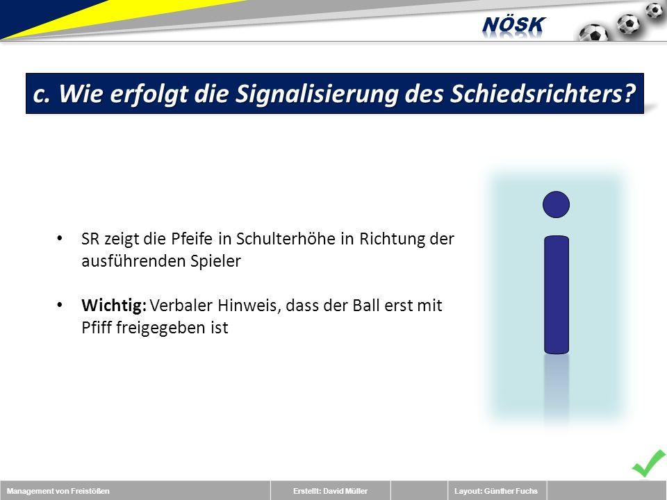 Management von FreistößenErstellt: David MüllerLayout: Günther Fuchs c.
