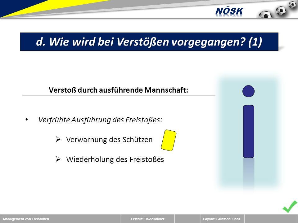 Management von FreistößenErstellt: David MüllerLayout: Günther Fuchs d.
