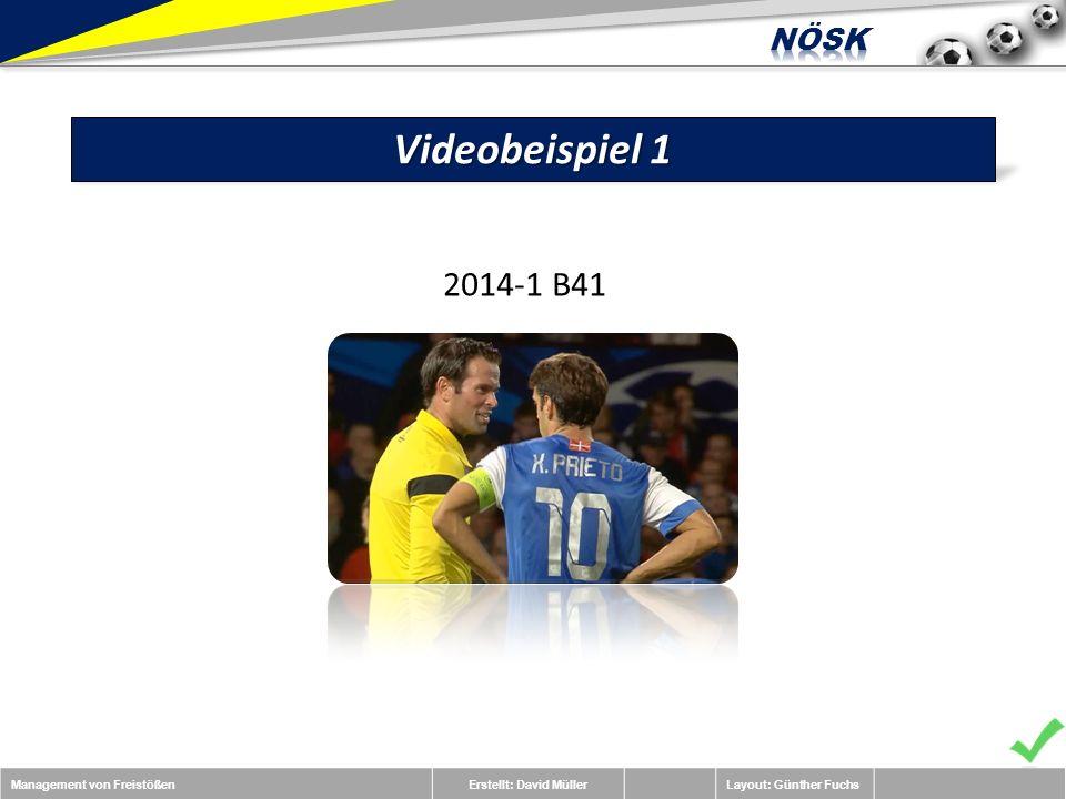Management von FreistößenErstellt: David MüllerLayout: Günther Fuchs Videobeispiel 1 2014-1 B41