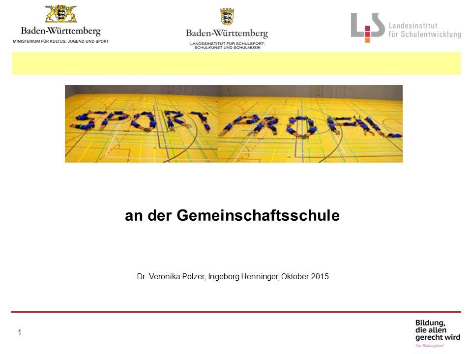1 an der Gemeinschaftsschule Dr. Veronika Pölzer, Ingeborg Henninger, Oktober 2015