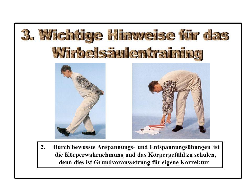 AS: RL – Beine gebeugt – Füße am Boden – Arme gestreckt neben dem Körper – Handflächen nach unten ÜA: - Bm spannen - Kopf und Oberkörper anheben - Arme in Schulterhöhe anheben - Spannung einen Augenblick halten - langsam wieder zurück legen - Spannung lösen Az: 3 x !!.