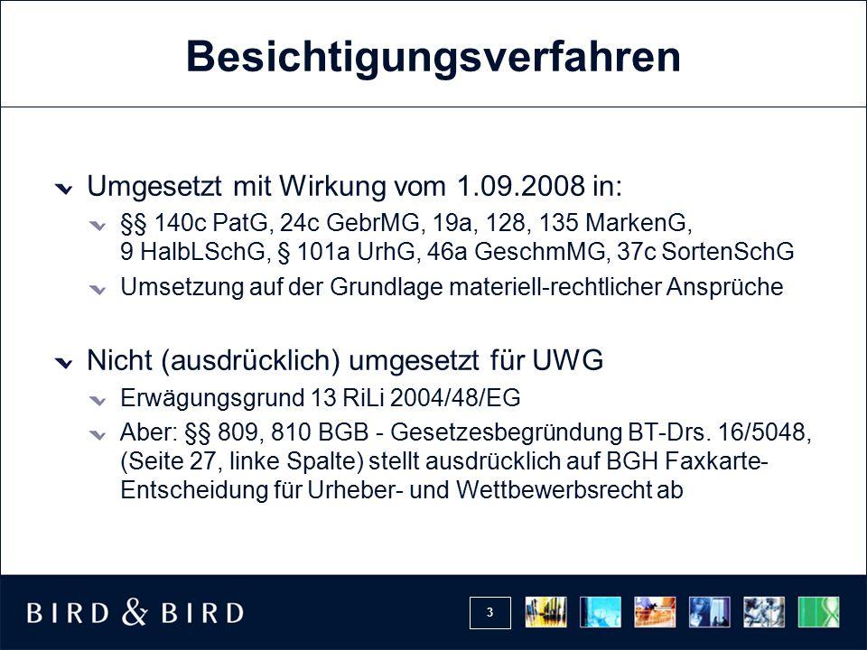 24 Rechtsmittel Fristsetzung zur Erhebung der Hauptsacheklage Damit: fehlendes Rechtsschutzbedürfnis für Antrag auf Fristsetzung, wenn Sachverständigengutachten noch nicht ausgehändigt (OLG Frankfurt vom 18.09.2007 (5 W 27/07), a.A.
