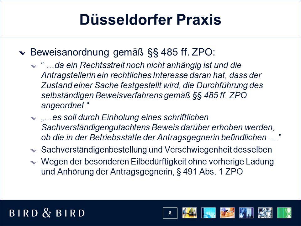 8 Düsseldorfer Praxis Beweisanordnung gemäß §§ 485 ff.