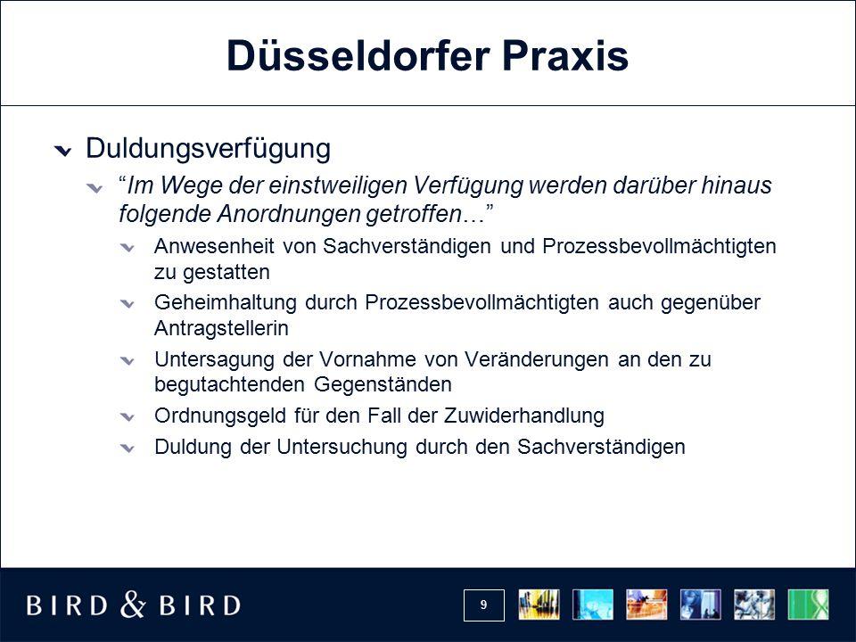 20 Verteidigung LG Kassel vom 10.09.2009 (1 O 527/09): …Davon abgesehen, dürfte in der vorliegenden Fallgestaltung ein längeres Zuwarten ausnahmsweise dem Vorgehen im Wege der einstweiligen Verfügung nicht entgegenstehen.