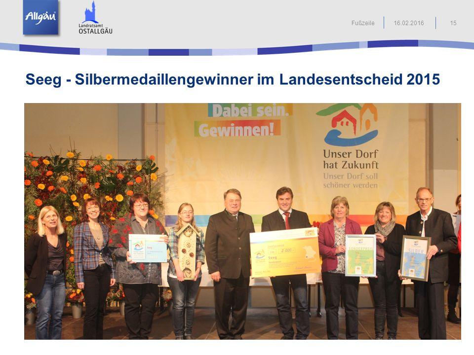 Seeg - Silbermedaillengewinner im Landesentscheid 2015 15Fußzeile16.02.2016