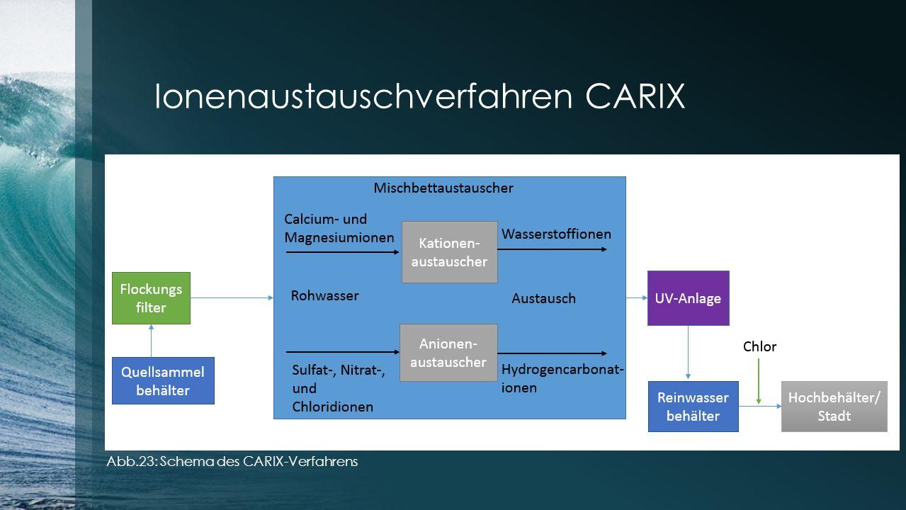 Ionenaustauschverfahren CARIX Abb.23: Schema des CARIX-Verfahrens