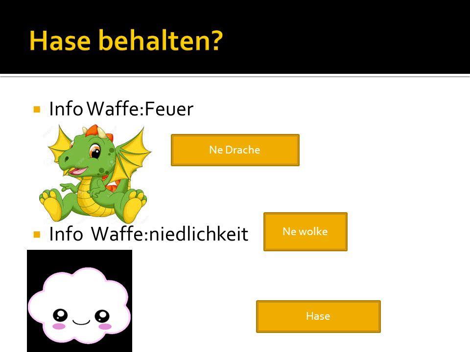  Info Waffe:Feuer  Info Waffe:niedlichkeit Ne Drache Ne wolke Hase