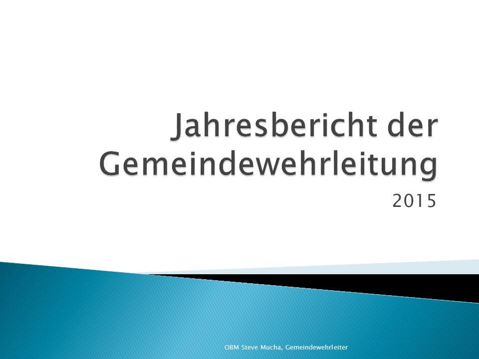  3.2 Wahlen ◦ Gemeindewehrleitungswahl am 13.03.2015 ◦ Ortswehrleiterwahl in Greifendorf am 14.04.2015  Neuer OWL, Kamerad Marcel Grudda  Stellv.