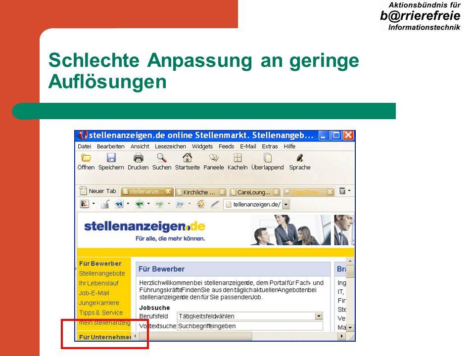 Schrift nicht skalierbar im Internet Explorer